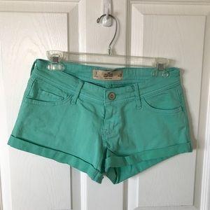 Mint green hollister shorts